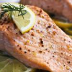 Запеченный кето лосось с лимоном и сливочным маслом