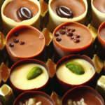 Соленый десерт из шоколада и орехов