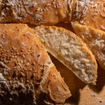 Кунжутный кето хлеб