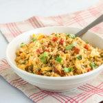 Кето гарнир – рис из цветной капусты по-средиземноморски